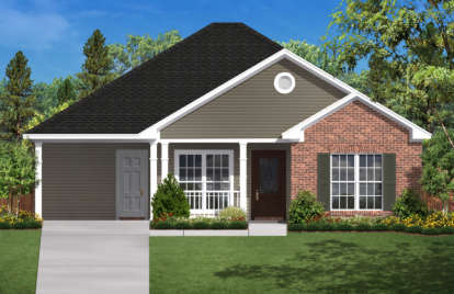2 Bed, 1 Bath, 900 Square Foot House Plan - #041-00024