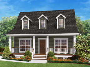 Country House Plan #041-00026 Elevation Photo