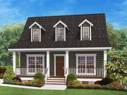 2 Bed, 2 Bath, 900 Square Foot House Plan #041-00026