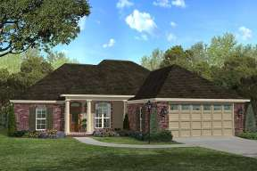 French Country House Plan #041-00031 Elevation Photo