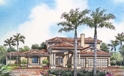 4 Bed, 3 Bath, 3117 Square Foot House Plan - #168-00036