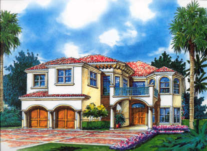 4 Bed, 4 Bath, 3869 Square Foot House Plan - #168-00045