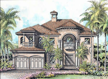 4 Bed, 3 Bath, 4073 Square Foot House Plan - #168-00048