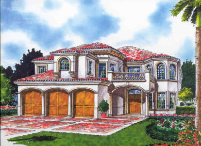 6 Bed, 5 Bath, 4713 Square Foot House Plan - #168-00056