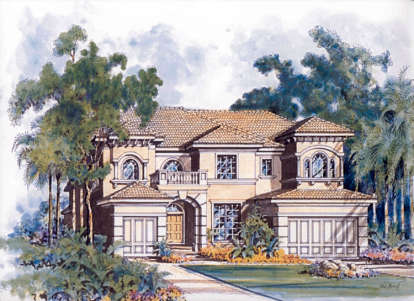 5 Bed, 5 Bath, 4779 Square Foot House Plan - #168-00059