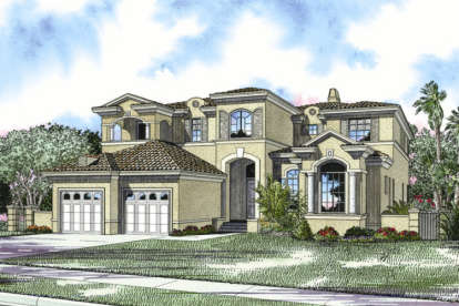 5 Bed, 5 Bath, 5076 Square Foot House Plan - #168-00062
