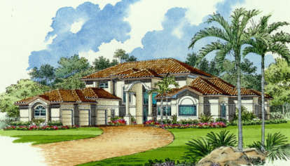 5 Bed, 4 Bath, 5088 Square Foot House Plan - #168-00063