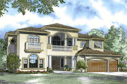5 Bed, 5 Bath, 5110 Square Foot House Plan - #168-00064