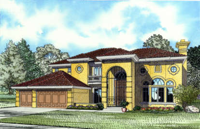 4 Bed, 5 Bath, 5140 Square Foot House Plan - #168-00065