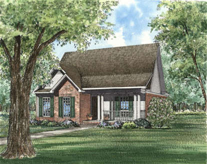 3 Bed, 2 Bath, 1490 Square Foot House Plan - #110-00183