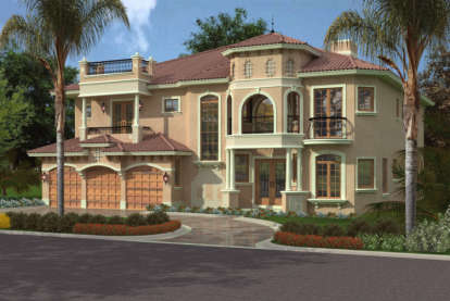 5 Bed, 5 Bath, 5176 Square Foot House Plan - #168-00066