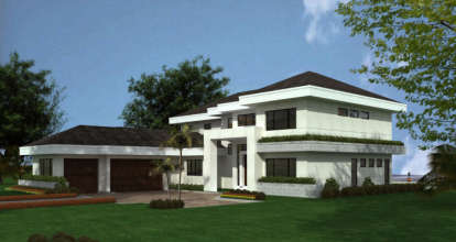 4 Bed, 4 Bath, 5555 Square Foot House Plan - #168-00071