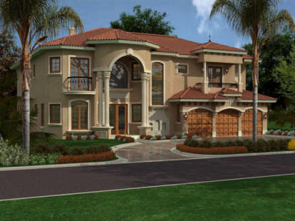 5 Bed, 5 Bath, 5743 Square Foot House Plan - #168-00076