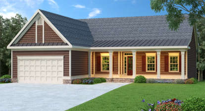 3 Bed, 2 Bath, 1870 Square Foot House Plan - #009-00018