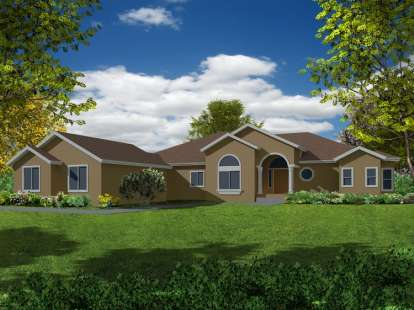 4 Bed, 3 Bath, 2834 Square Foot House Plan - #286-00021