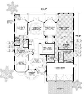 Floorplan 1 for House Plan #168-00088
