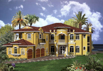 6 Bed, 7 Bath, 6714 Square Foot House Plan - #168-00090