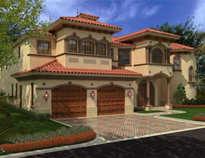 4 Bed, 4 Bath, 6835 Square Foot House Plan - #168-00091