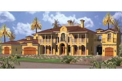 6 Bed, 6 Bath, 6904 Square Foot House Plan - #168-00092