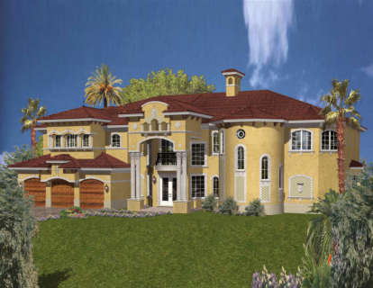 6 Bed, 6 Bath, 7100 Square Foot House Plan - #168-00093