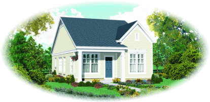 2 Bed, 2 Bath, 1058 Square Foot House Plan - #053-00463