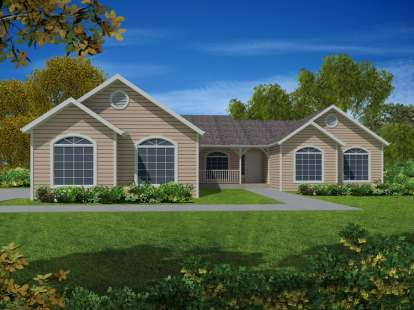 3 Bed, 2 Bath, 2219 Square Foot House Plan - #286-00029