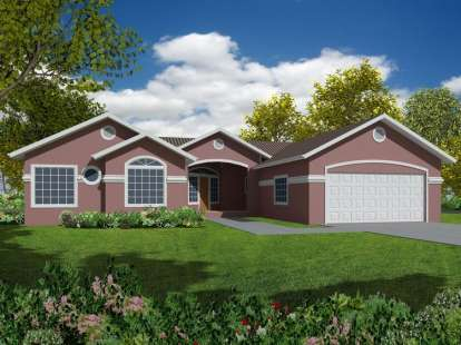 4 Bed, 2 Bath, 2078 Square Foot House Plan - #286-00035