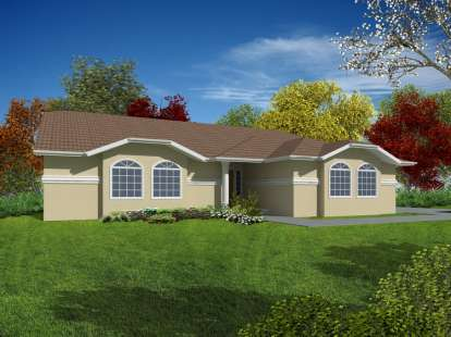 3 Bed, 2 Bath, 1729 Square Foot House Plan - #286-00048