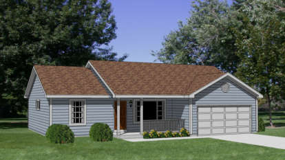 1 Bed, 3 Bath, 1158 Square Foot House Plan - #340-00001