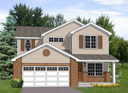 4 Bed, 2 Bath, 2242 Square Foot House Plan - #340-00022
