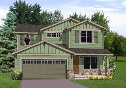 4 Bed, 2 Bath, 2242 Square Foot House Plan - #340-00023