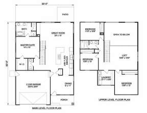 Floorplan 1 for House Plan #340-00024