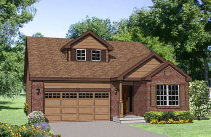3 Bed, 2 Bath, 1786 Square Foot House Plan - #340-00025