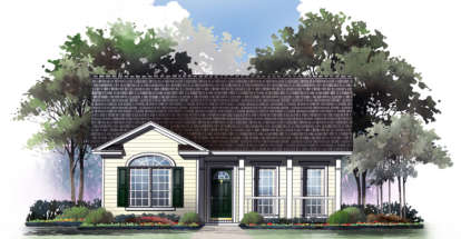 2 Bed, 2 Bath, 1000 Square Foot House Plan - #348-00002
