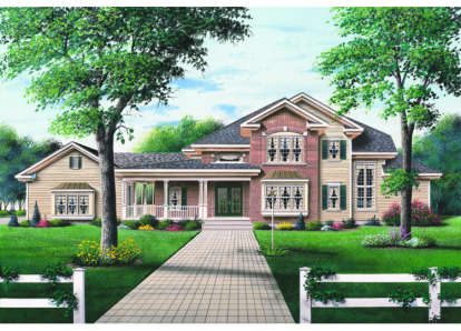 4 Bed, 3 Bath, 3115 Square Foot House Plan - #034-00045