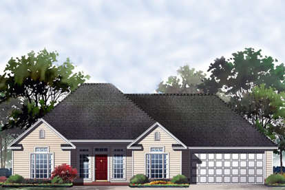 2 Bed, 2 Bath, 1250 Square Foot House Plan - #348-00008