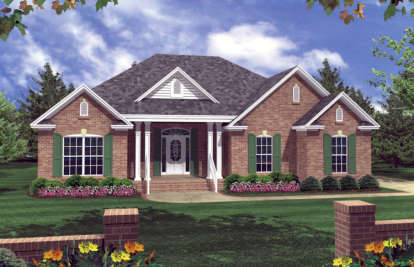 3 Bed, 2 Bath, 1502 Square Foot House Plan - #348-00021