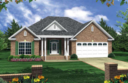 3 Bed, 2 Bath, 1504 Square Foot House Plan - #348-00024