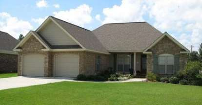 3 Bed, 2 Bath, 1605 Square Foot House Plan - #348-00033