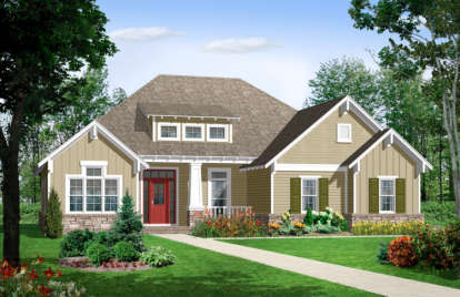 3 Bed, 2 Bath, 1655 Square Foot House Plan - #348-00043