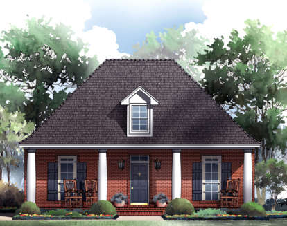 3 Bed, 2 Bath, 1733 Square Foot House Plan - #348-00047