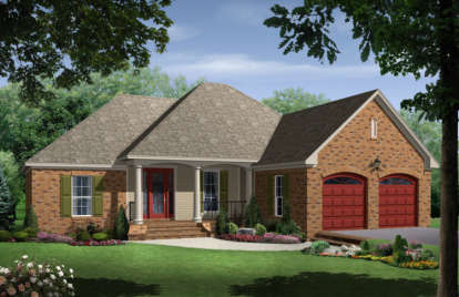 4 Bed, 3 Bath, 1750 Square Foot House Plan - #348-00048