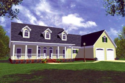 3 Bed, 2 Bath, 1799 Square Foot House Plan - #348-00055