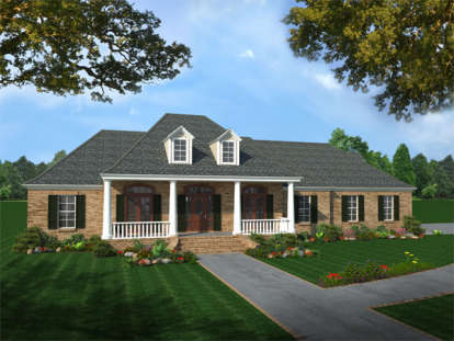 4 Bed, 3 Bath, 2501 Square Foot House Plan - #348-00060