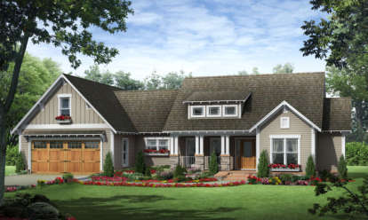 3 Bed, 2 Bath, 1800 Square Foot House Plan - #348-00066