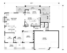 Floorplan 1 for House Plan #036-00164