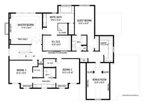 Floorplan 2 for House Plan #036-00164