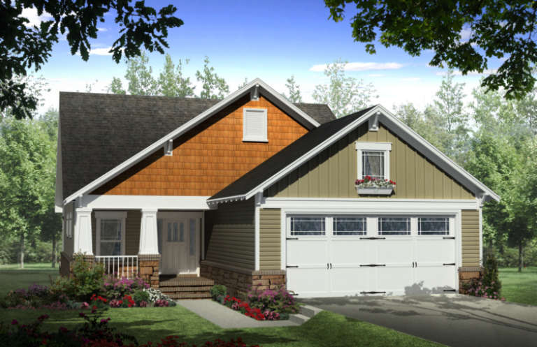 Cottage House Plan #348-00068 Elevation Photo