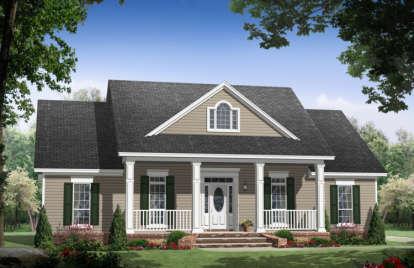 3 Bed, 2 Bath, 1888 Square Foot House Plan #348-00079