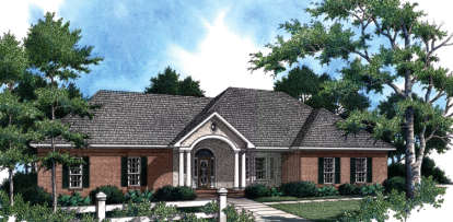 3 Bed, 2 Bath, 1896 Square Foot House Plan - #348-00081
